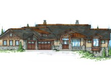 Craftsman Exterior - Front Elevation Plan #945-139