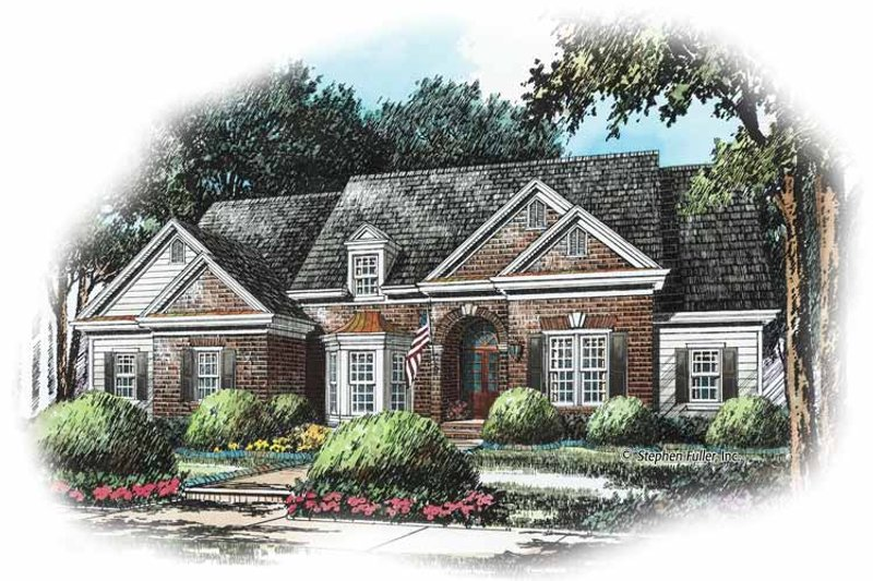 Colonial Exterior - Front Elevation Plan #429-243