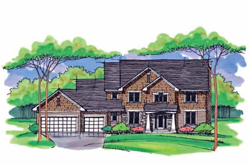 Country Exterior - Front Elevation Plan #51-1013 - Houseplans.com
