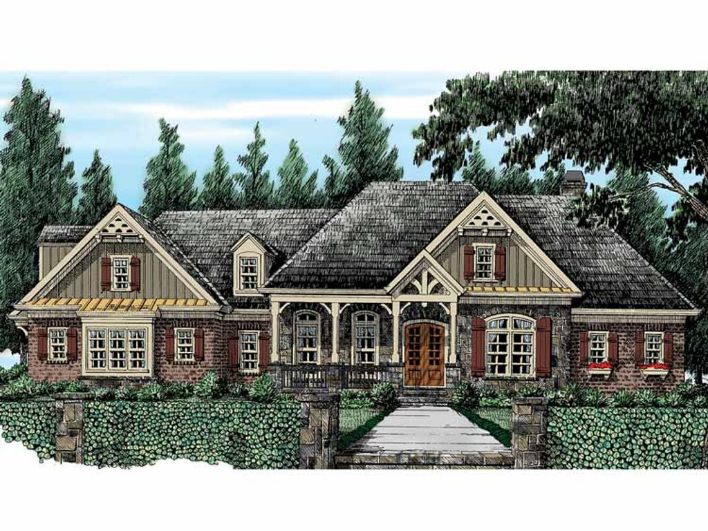 Country style house plan 4 beds 3 5 baths 3394 sq ft for Country style floor plans