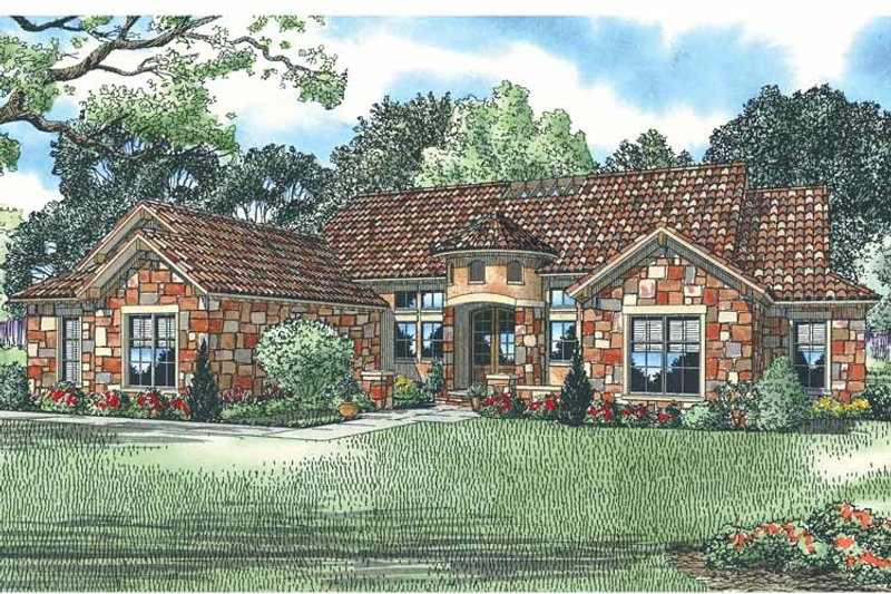 Country Exterior - Front Elevation Plan #17-2928 - Houseplans.com