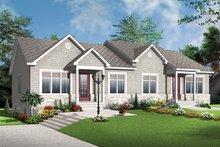 Craftsman Exterior - Front Elevation Plan #23-2592