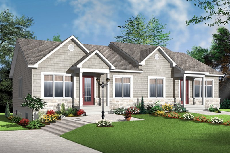 Craftsman Exterior - Front Elevation Plan #23-2592