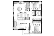 Contemporary Style House Plan - 2 Beds 1 Baths 962 Sq/Ft Plan #23-2524 Floor Plan - Main Floor Plan