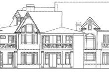 House Plan Design - Craftsman Exterior - Rear Elevation Plan #54-368