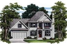 Home Plan - Colonial Exterior - Front Elevation Plan #927-92
