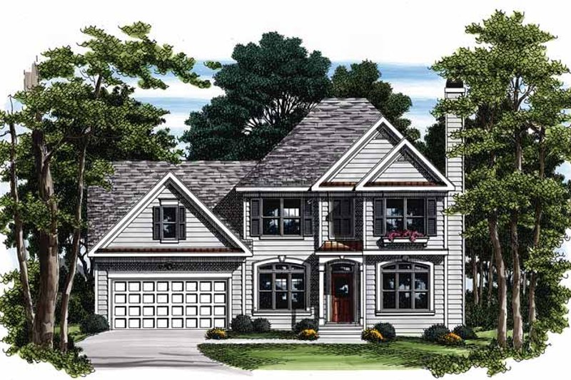 Colonial Exterior - Front Elevation Plan #927-92