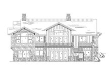 Craftsman Exterior - Rear Elevation Plan #945-138