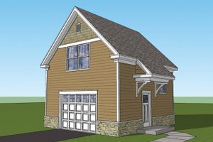 Craftsman Exterior - Front Elevation Plan #1029-65