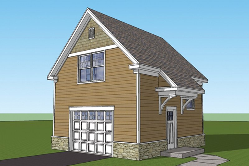 Architectural House Design - Craftsman Exterior - Front Elevation Plan #1029-65