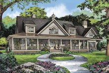 Country Exterior - Front Elevation Plan #929-806
