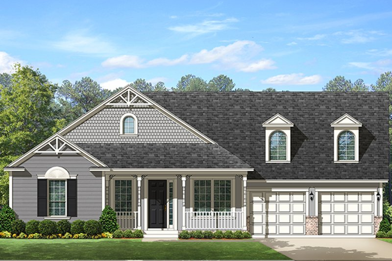 Ranch Exterior - Front Elevation Plan #1058-146