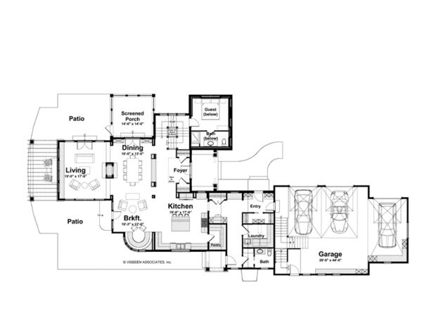Country Floor Plan - Main Floor Plan #928-214
