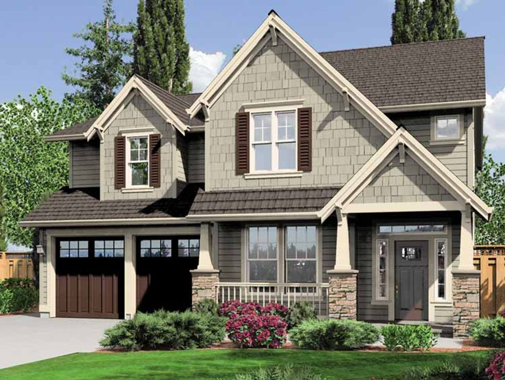 Craftsman style house plan 4 beds 2 5 baths 2470 sq ft for 2 bedroom craftsman style house plans