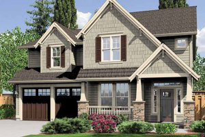 Architectural House Design - Craftsman Exterior - Front Elevation Plan #966-26