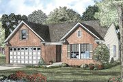 Colonial Style House Plan - 3 Beds 2 Baths 1250 Sq/Ft Plan #17-2900