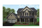 Classical Style House Plan - 4 Beds 2.5 Baths 2002 Sq/Ft Plan #1010-10 Exterior - Front Elevation