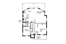 Contemporary Floor Plan - Main Floor Plan Plan #117-862