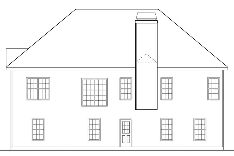 Traditional Exterior - Rear Elevation Plan #927-702 - Houseplans.com