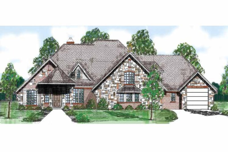 Traditional Exterior - Front Elevation Plan #52-254 - Houseplans.com