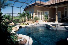 House Plan Design - Mediterranean Exterior - Rear Elevation Plan #1039-5