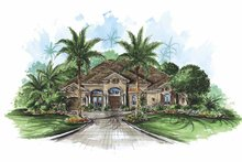 Mediterranean Exterior - Front Elevation Plan #1017-62