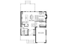 Contemporary Floor Plan - Main Floor Plan Plan #23-2580