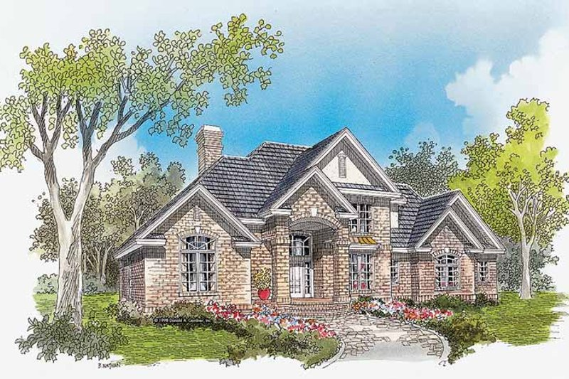 Traditional Exterior - Front Elevation Plan #929-341 - Houseplans.com