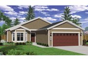 Craftsman Style House Plan - 3 Beds 2 Baths 1606 Sq/Ft Plan #943-20 Exterior - Front Elevation