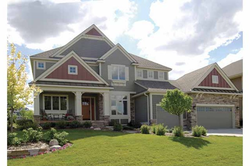 Craftsman Exterior - Front Elevation Plan #320-1006 - Houseplans.com
