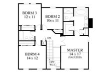 Colonial Floor Plan - Upper Floor Plan Plan #1053-71