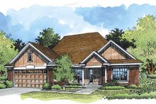 Dream House Plan - Ranch Exterior - Front Elevation Plan #320-540
