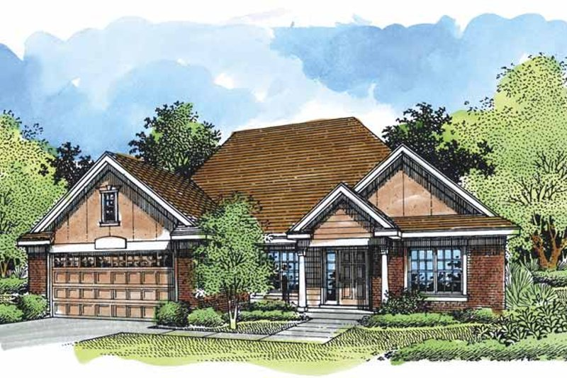 Ranch Exterior - Front Elevation Plan #320-540 - Houseplans.com