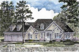 Craftsman Exterior - Front Elevation Plan #316-270