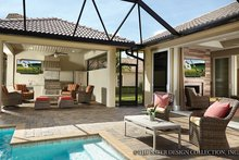 Mediterranean Exterior - Outdoor Living Plan #930-456