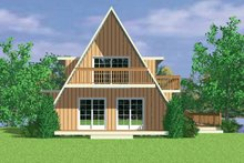 House Blueprint - Exterior - Rear Elevation Plan #72-1048