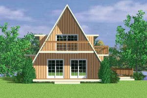 Home Plan - Exterior - Rear Elevation Plan #72-1048