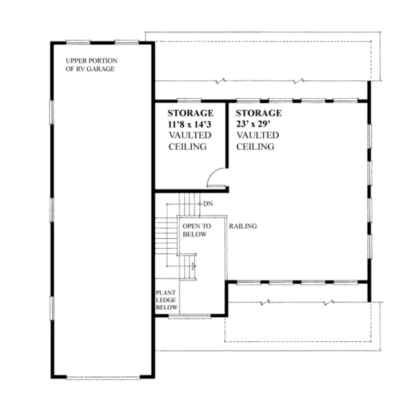 Traditional Floor Plan - Upper Floor Plan Plan #118-165