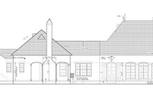 European Exterior - Rear Elevation Plan #1058-24