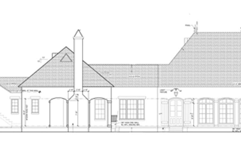 European Exterior - Rear Elevation Plan #1058-24 - Houseplans.com
