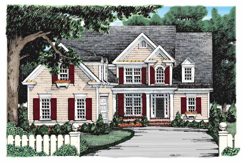 Colonial Exterior - Front Elevation Plan #927-900