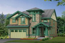 Dream House Plan - Craftsman Exterior - Front Elevation Plan #132-329