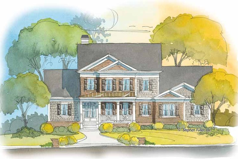 Colonial Exterior - Front Elevation Plan #429-402