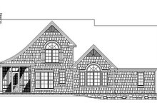 European Exterior - Rear Elevation Plan #929-907