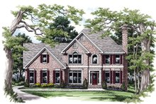 Colonial Exterior - Front Elevation Plan #927-154