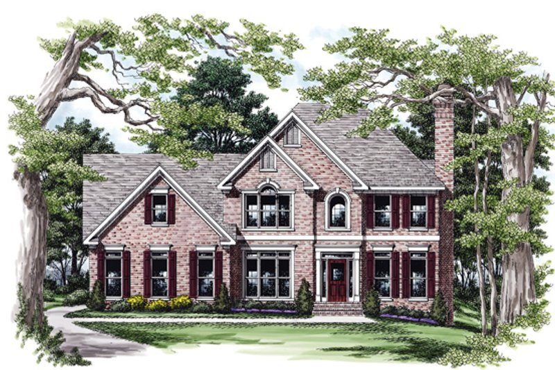 House Plan Design - Colonial Exterior - Front Elevation Plan #927-154
