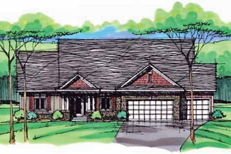 House Plan Design - European Exterior - Front Elevation Plan #51-996