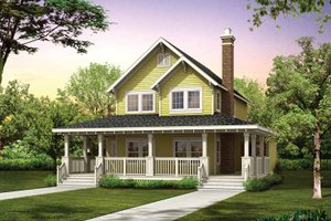 Victorian Exterior - Front Elevation Plan #47-1021