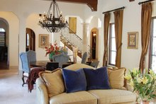 Architectural House Design - Mediterranean Interior - Family Room Plan #1058-15