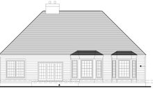 House Plan Design - Traditional Exterior - Rear Elevation Plan #1053-22